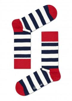 Happy Socks Stripe Sock (Blue/Red/White)