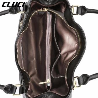 CLUCI Women's Genuine Cowhide Leather Handbag Casual Shoulder Bag Black - intl - 4