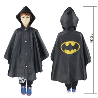 Harga Children Raincoat Role-playing Cloak-Black