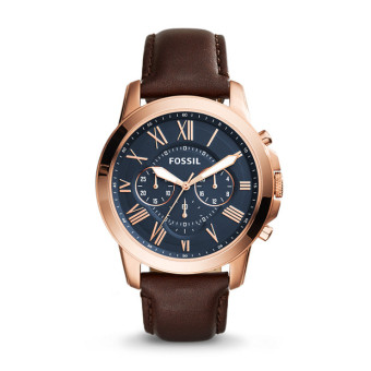 Fossil Men's Brown Leather Band Watch FS5068