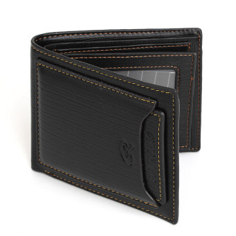 Harga Black Coffee Color Men Short Wallet Trendy Pleated Pattern Fashion Brand Design Mens Leather Wallets Business Style Purse Black