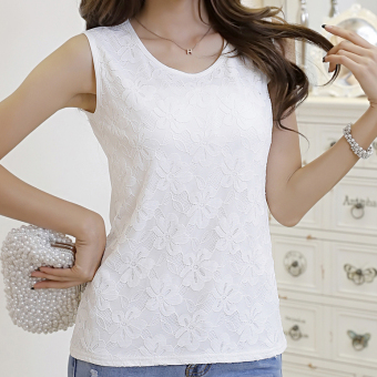 Harga Korean-style spring and the word lace chiffon vest