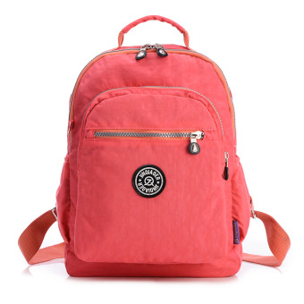 Harga Waterproof Nylon Backpack (Rose Red)