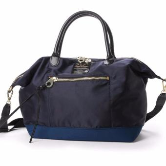 Harga Anello x Legato Largo 2-Way Tote Bag with sling strap crossbody & shoulder bag (Large size, Navy)