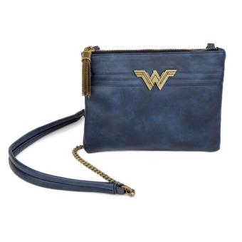 Harga Wonder Woman Navy Sling Clutch Pouch