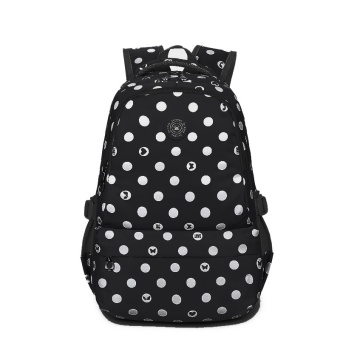 Harga Tourya Casual Women Backpack Nylon Dot Printing Shoulder School Bags for Teenagers Girls Laptop Back Pack Travel bagpack Mochila (black) - intl