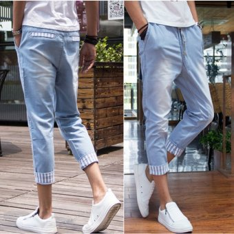 Harga Korean-style elastic with summer lace men's HarLan pants