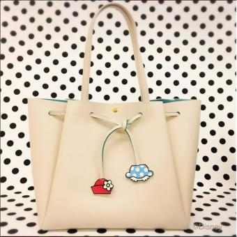 Harga Samantha Thavasa x COLORS by Jennifer Sky Disney Mickey Mouse Edition Tote bag ( BEIGE COLOR)