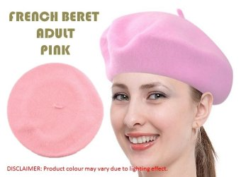 Harga French Beret Adult (Pink)