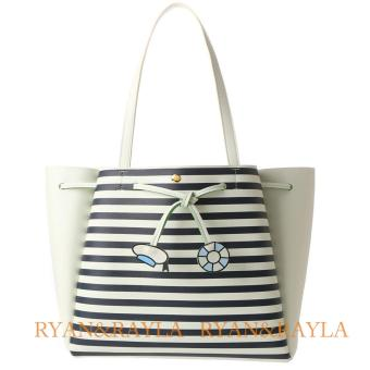 Harga Samantha Thavasa x COLORS by Jennifer Sky Disney Collection Donald Duck Tote Bag(STRIPE WHITE)