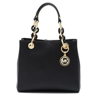 Harga Michael Kors Cynthia Small North South Satchel (Black)