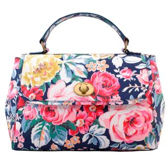 Harga Cath Kidston Turnlock handbag cross body bag (GREENWICH ROSE)