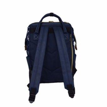 Japan Sun Earth & U new design backpack school bag shoulder bag Japan Hot-selling PU navy - 4
