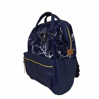 Japan Sun Earth & U new design backpack school bag shoulder bag Japan Hot-selling PU navy - 2