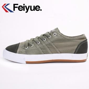 Harga Feiyue Joker Low Canvas Shoes (Army Green) - intl