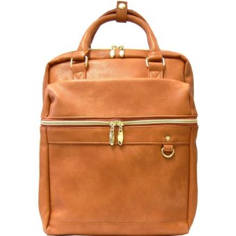 Harga anello x legato largo leather office backpack Japan hot selling fashion bag (Camel color)