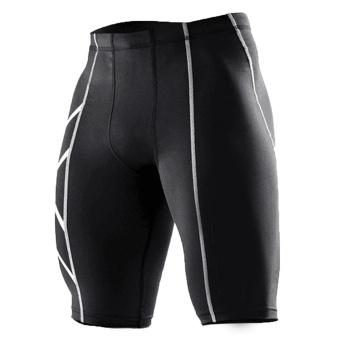 Harga New Gym-Clothing Male Compression Tights Shorts Basketball Men Gym Short Pants Silver - intl