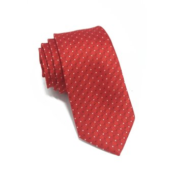 Harga Atom Series Red Polyester Tie