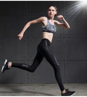 Vansydical Women Power Speed Flash Compression Long Pants (Black) - 3