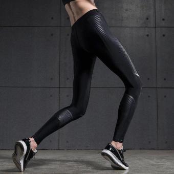 Vansydical Women Power Speed Flash Compression Long Pants (Black) - 2