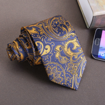 New Silk Classic Mix Color JACQUARD WOVEN Silk Men's Tie Necktie