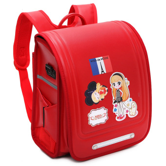 Harga Tiger cat mom dad luo same paragraph sissy girls spinal care primary school grades 4-6 japanese japan school bags (Girls red)