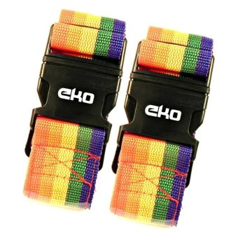 Harga Eko Traveller 2 pcs Rainbow Luggage Strap with Identity Tag