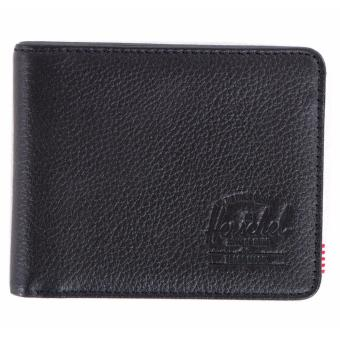 Harga Herschel Hank Leather Wallet– Black Pebbled Leather