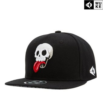 Harga Victory Fashion Man New Hats Skull Flat edge cap Hip hop Baseball cap(Black) - intl