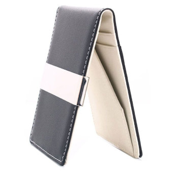 Harga Men's Faux Leather Metal Money Clip Wallets (Ivory)