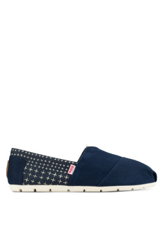 Harga Wakai Sashiko Women's Slip On Shoes (Navy)