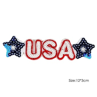 Harga High Quality Store New Girls Jeans Bags Satchel Embroidery Iron On Patches Sewn Applique Food Stars Anchors Smile Face DIY Clothes