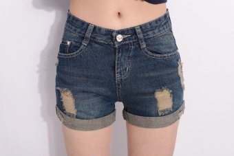 VICI New hole denim shorts in summer - 3
