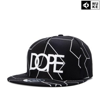 Harga Victory Fashion Man New Hats Line Flat edge cap Hip hop Baseball cap(Black) - intl