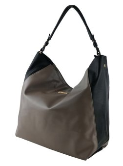 Harga Perllini and Mel Two-Tone Shoulder Bag (Taupe)
