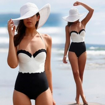 Sexy Women Strap One-Piece Bikini Swimwear Swimsuit Beach Wear - intl