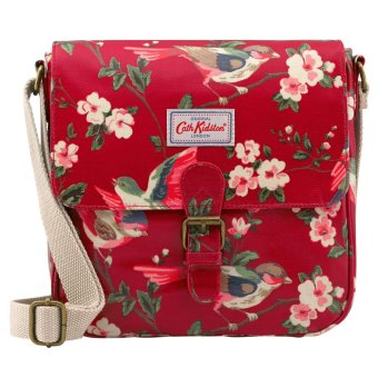Harga Cath Kidston Oilcloth Mini Satchel Bag Crossbody Bag British Birds (Berry Red) 516648 - Intl