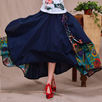 National Wind Original Spring and Autumn New style big swing skirt dress
