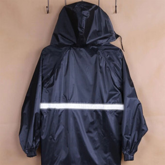 Reflective Tape Adult Raincoat Set Navy Blue(EXPORT) - 4