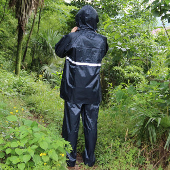 Reflective Tape Adult Raincoat Set Navy Blue(EXPORT) - 2