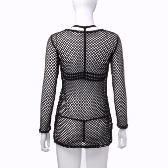 Women Sexy Swimwear Crochet Beach Bikini Cover Up Dress Beach Wear Kaftan Tops - intl - 3