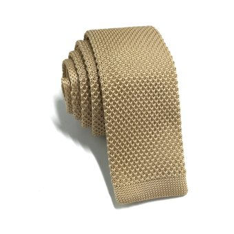 Harga Interlace Series Golden Brown Knitted Tie