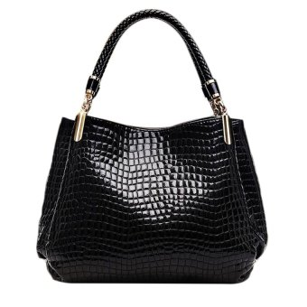 Harga ERA Luxury Leather Feminine Designer Crocodile Pattern ShoulderWrist Handbag - intl