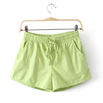 Harga Home linen female Plus-sized sports Linen shorts