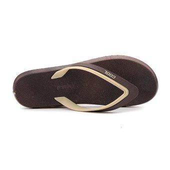 ZOQI Men's Fashion Flip Flops(Khaki) - intl - 2