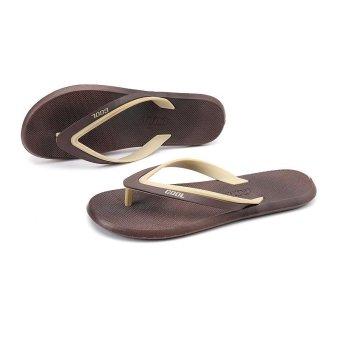 ZOQI Men's Fashion Flip Flops(Khaki) - intl - 5
