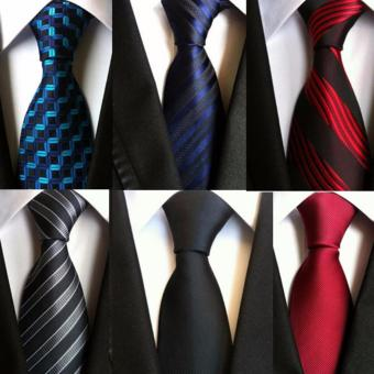 6 pcs Fashion Tie Necktie Silk Jacquard Woven Neck Ties for Men Formal Dress Business Wedding Party - intl