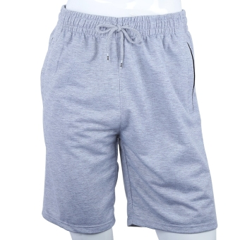 Harga Athletic Running Sport Loose Male Shorts (4XL) (Grey) - intl