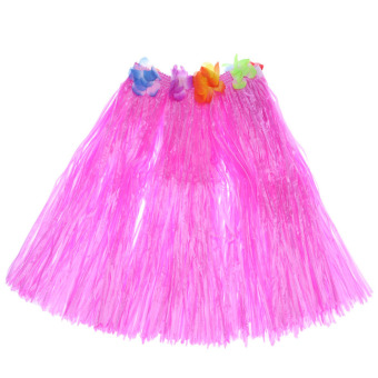 "Anself New Handmade Hawaiian Costumes 24"" Dance Kit Hawaii Hula-hula Hula Skirt 5PCS Set Men Grass Skirts - intl - 3"