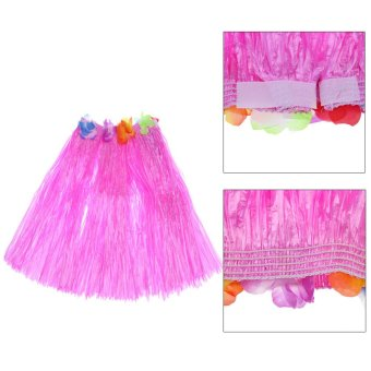 "Anself New Handmade Hawaiian Costumes 24"" Dance Kit Hawaii Hula-hula Hula Skirt 5PCS Set Men Grass Skirts - intl - 2"
